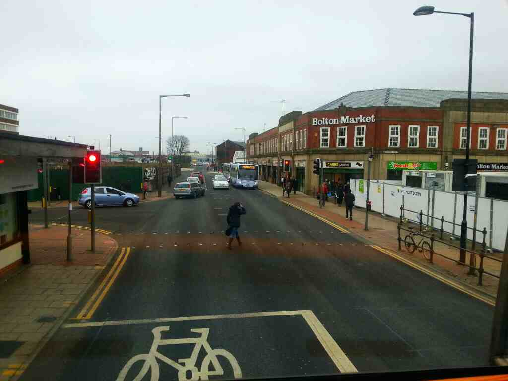 Black Horse St Bolton on a 125 bus