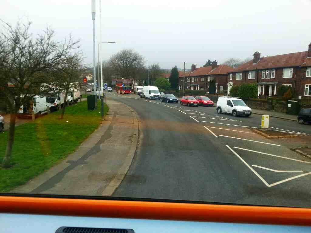 Chorley Old Road at the A58 Bolton on a 125 bus