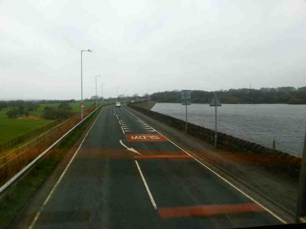 Bolton Rd on the Dam Wall of Lower Rivington Reservoir off a 125 bus