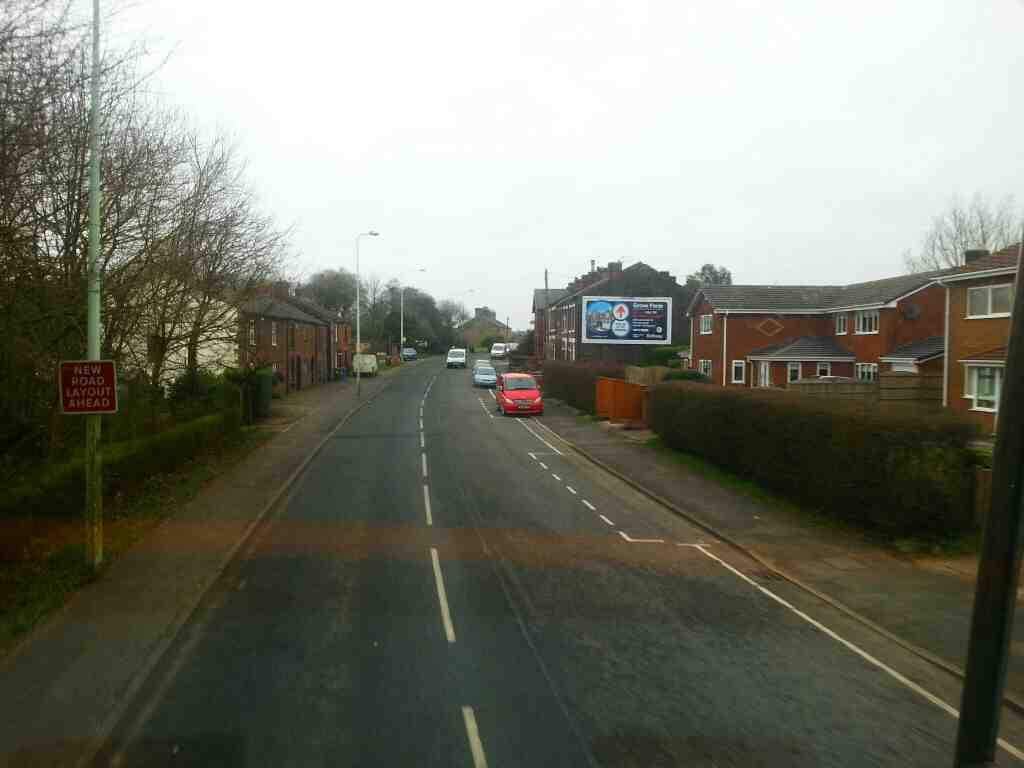 Heading into Anderton on Bolton Rd the A673 on a 125 bus