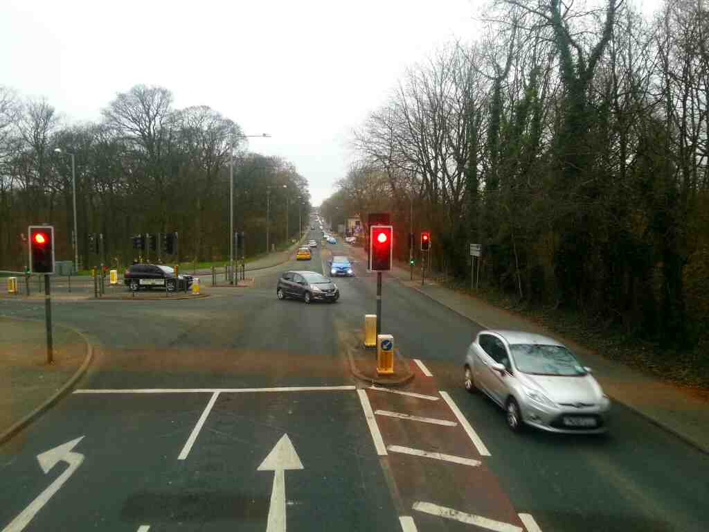 Junction of the B5252 and Bolton Rd the A6 off a 125 bus