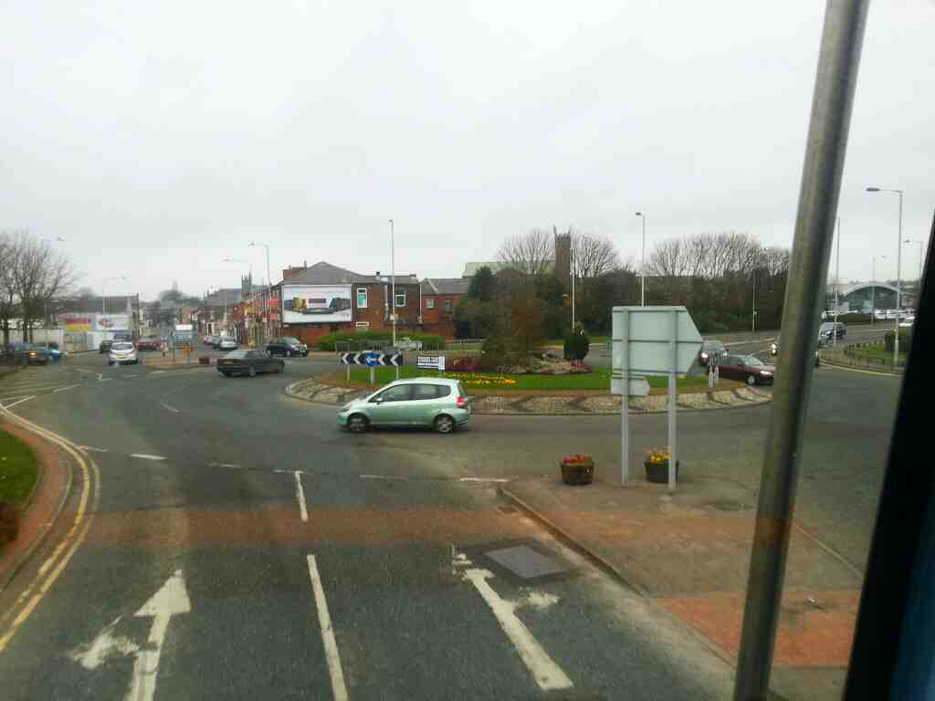 Junction of Bolton St Lyons Lane A6 Roundabout 125 Bus