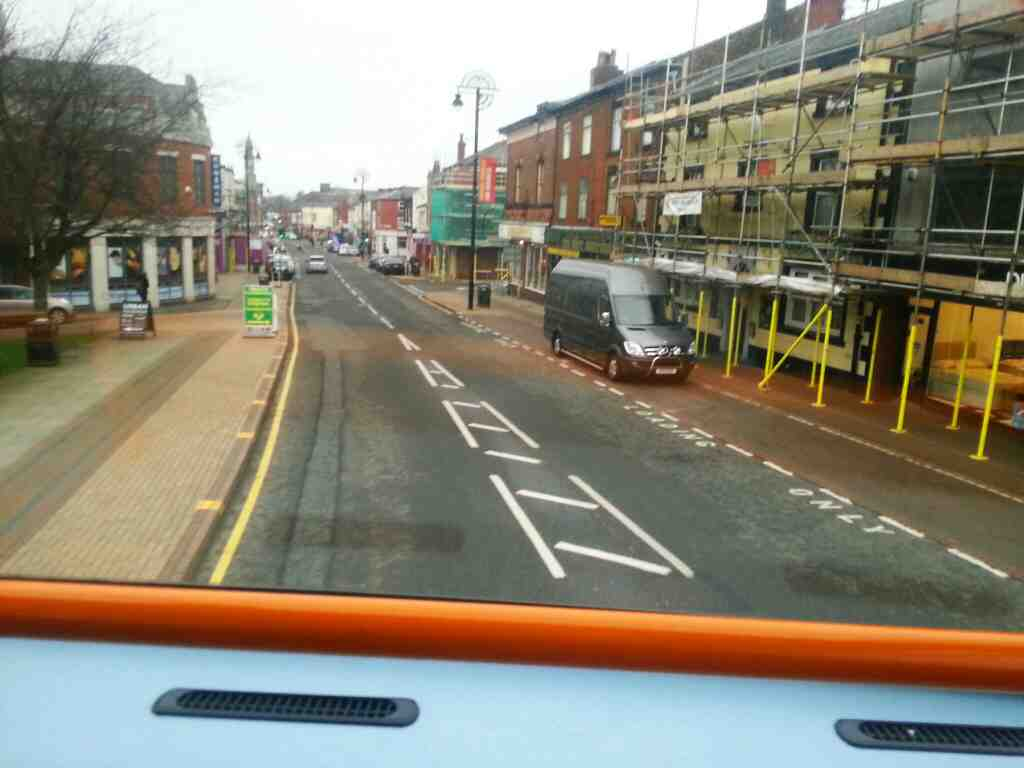 Market St Chorley on a 125 bus