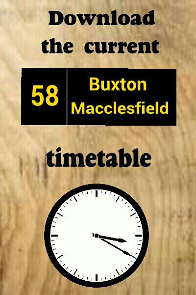Download the 58 Buxton, Burbage, Cat And Fiddle, Macclesfield timetable bus times