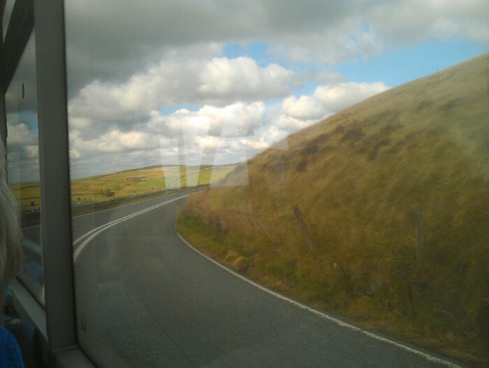 Dropping down from the Cat and Fiddle towards Macclesfield