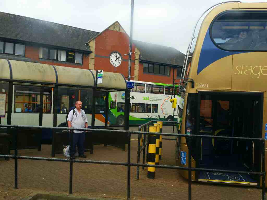 Awaiting departure from Carlisle Bus Station on a 685 Carlisle Newcastle