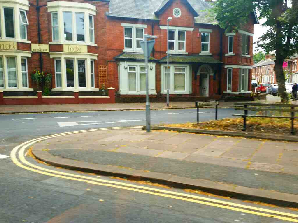 Junction of Warwick Rd and Aglionby St Carlisle on a 685 Carlisle Newcastle