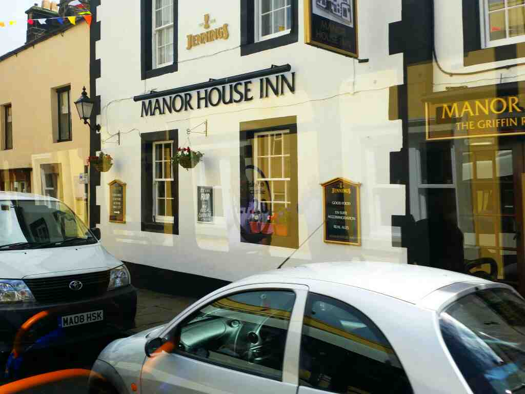 Passes the Manor House Inn Haltwhistle on a 685 Carlisle Newcastle bus