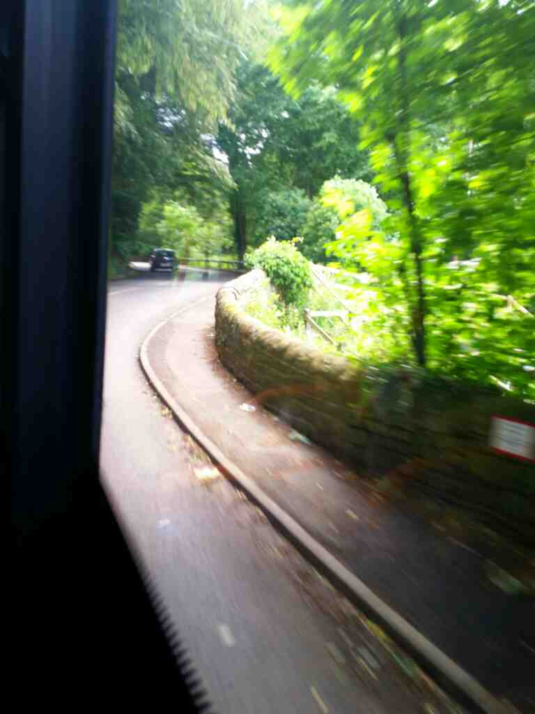 Traveling along 68 on a 685 Carlisle Newcastle bus