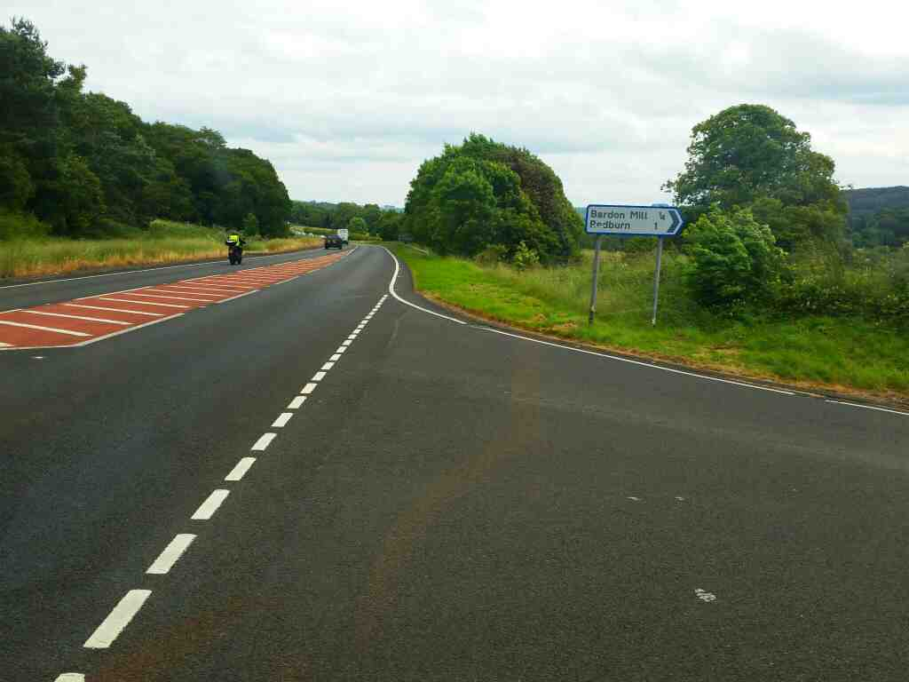 Rejoining the A69 east of Bardon Mill on a 685 Carlisle Newcastle bus