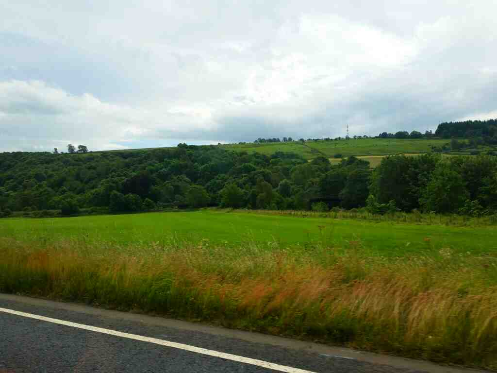 Between Bardon Mill and Haydon Bridge on the A69 on a 685 Carlisle Newcastle bus