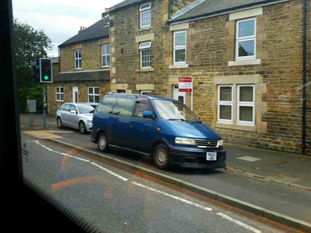 Ratcliffe Road Haydon Bridge Northumberland on a 685 Carlisle Newcastle bus