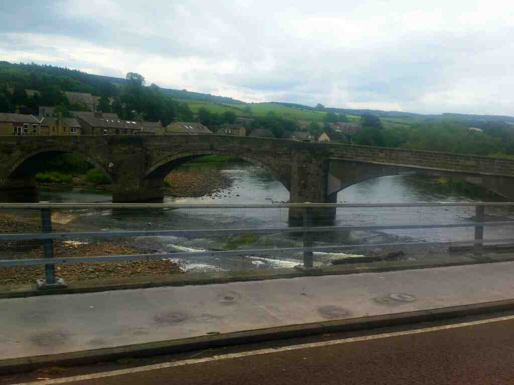 Crossing the South Tyne Haydon Bridge on a 685 Carlisle Newcastle bus