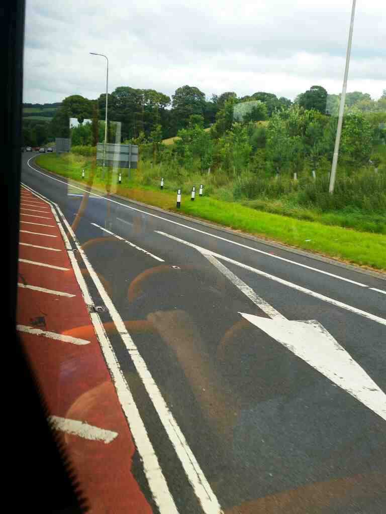 A69 east of Haydon Bridge on a 685 Carlisle Newcastle bus