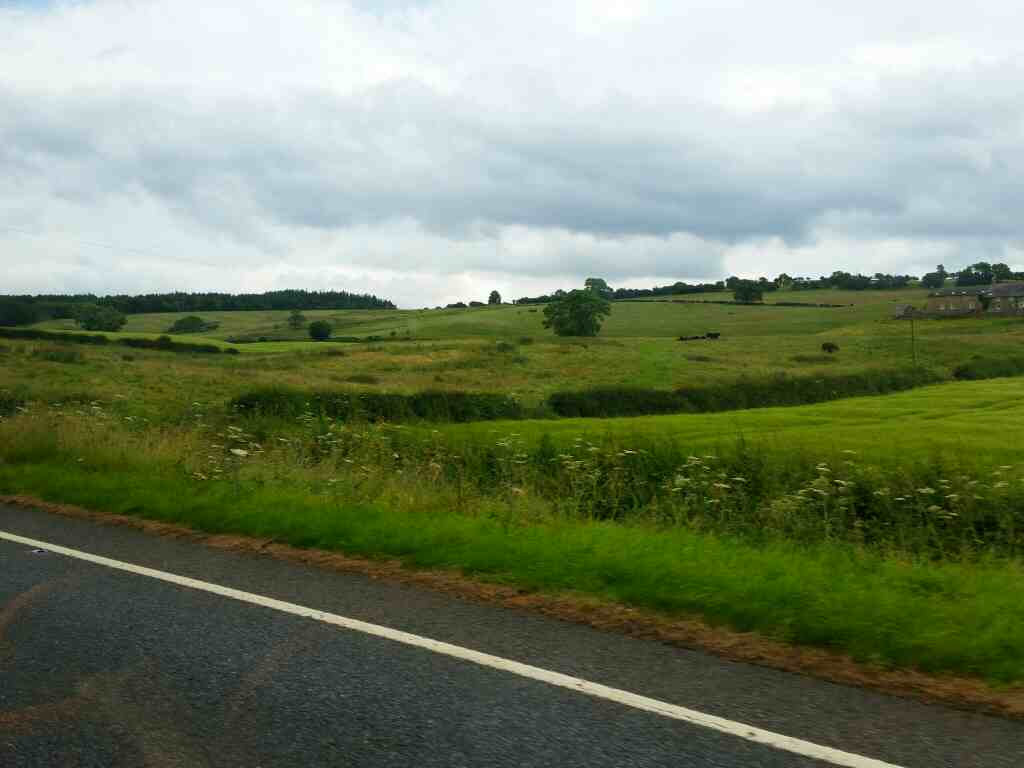 The A69 between Haydon Bridge and Hexham on a 685 Carlisle Newcastle bus