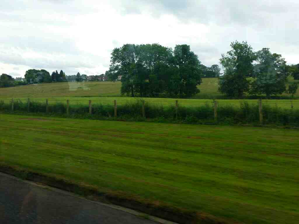 Heading along the B6531 towards Hexham Northumberland on a 685 Carlisle Newcastle bus