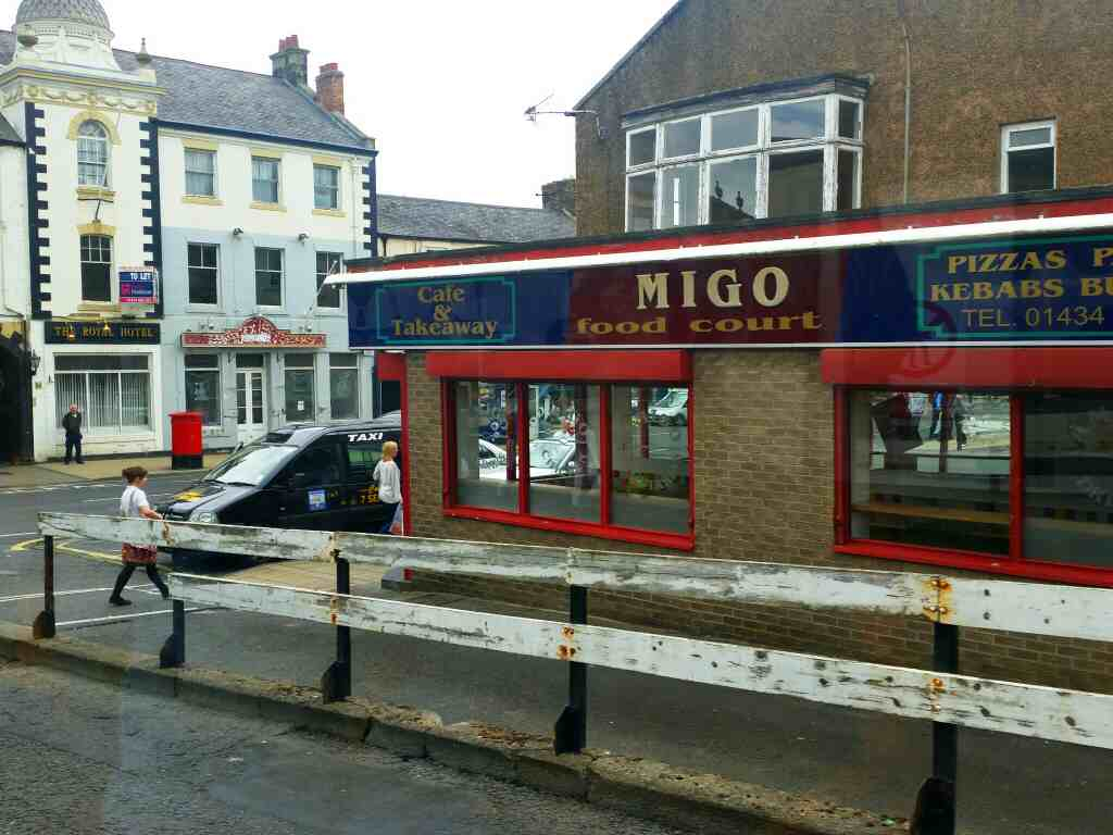 Migo Food Court Hexham bus station on a 685 Carlisle Newcastle bus