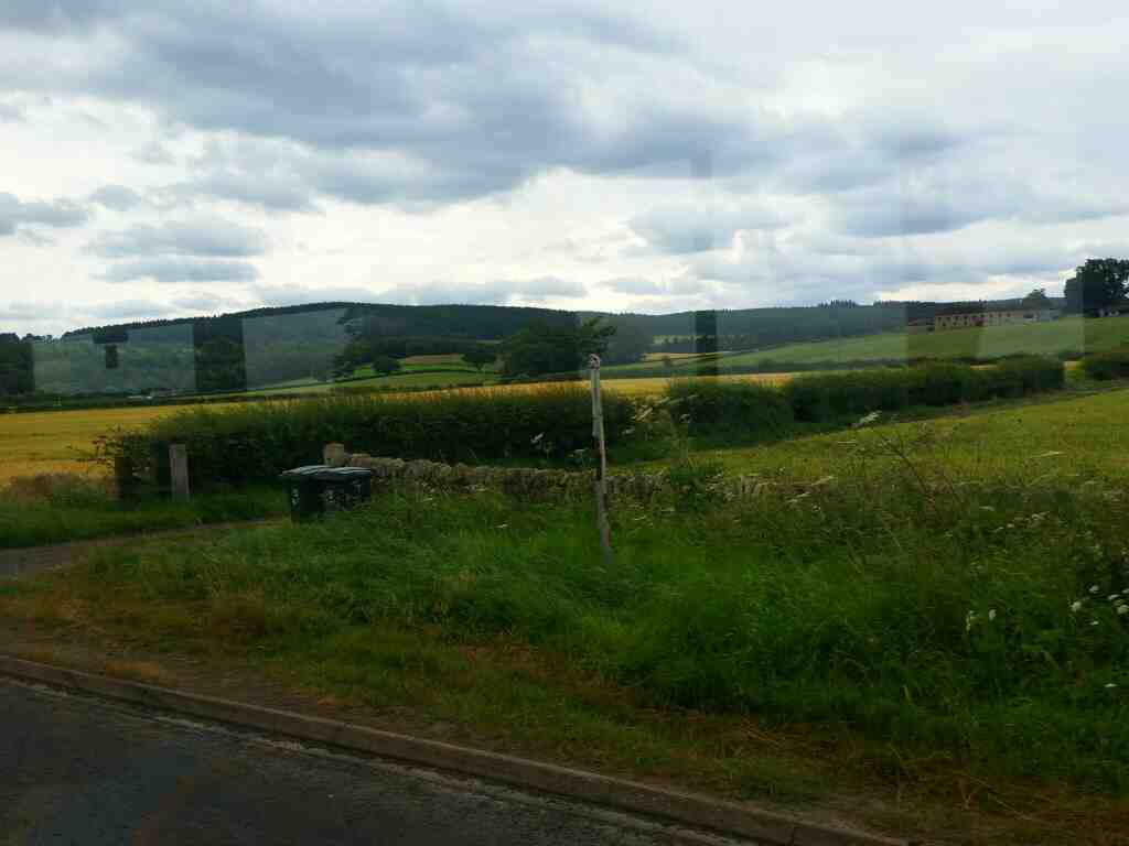 The A695 east of Hexham Northumberland on a 685 Carlisle Newcastle bus
