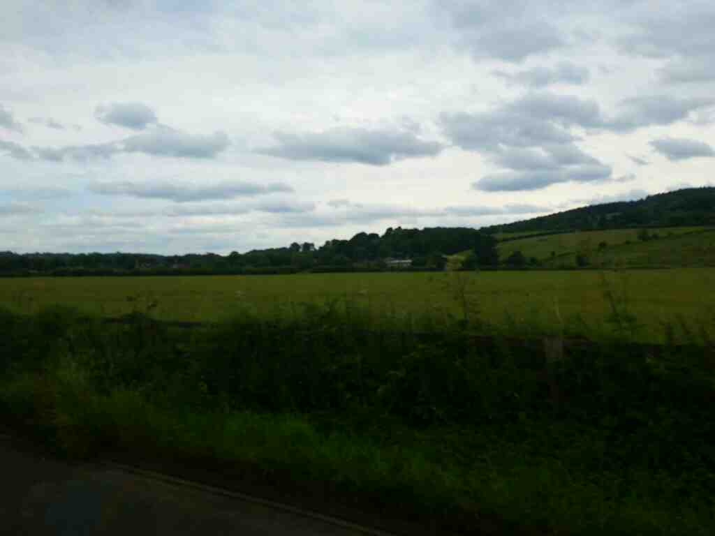 Traveling along the B6321 towards Corbridge Northumberland on a 685 Carlisle Newcastle bus