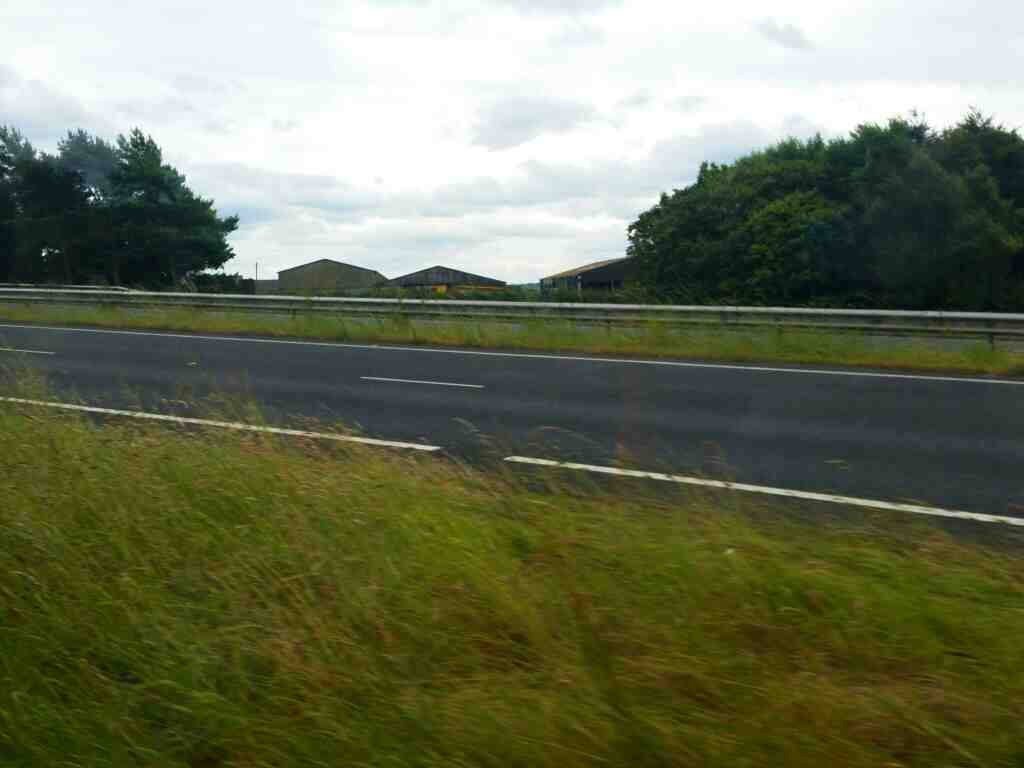 Leaving the A69 west of Horsley on a 685 Carlisle Newcastle bus