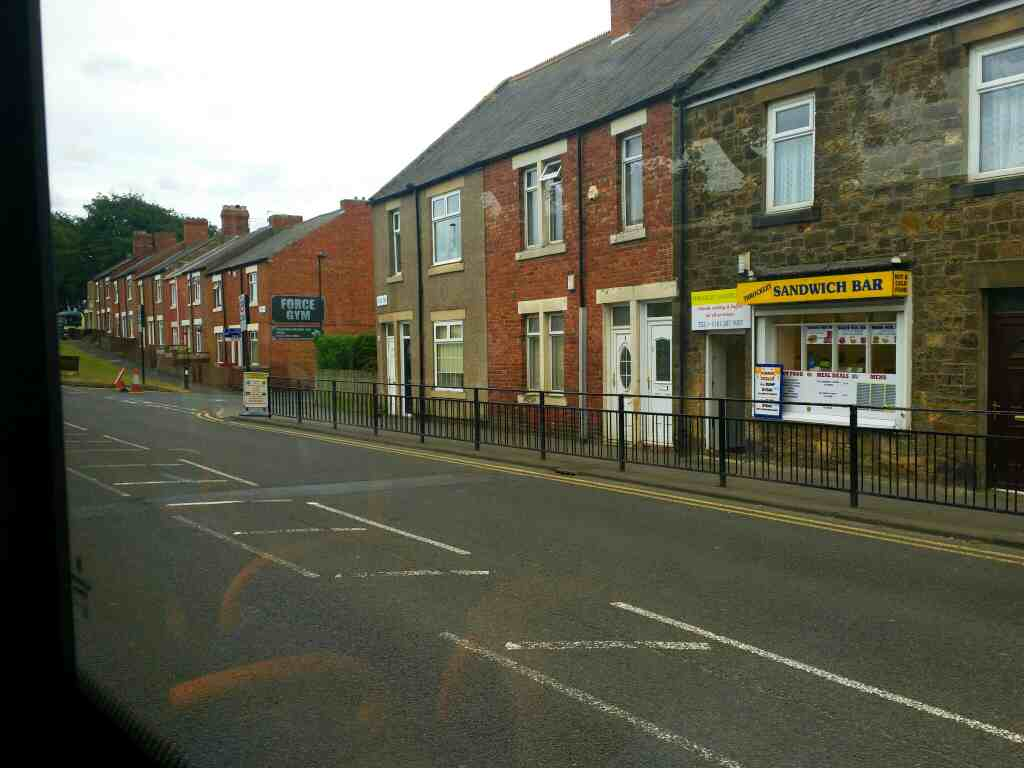 Passes Throckley Sandwich Bar Hexham Rd on a 685 Carlisle Newcastle bus