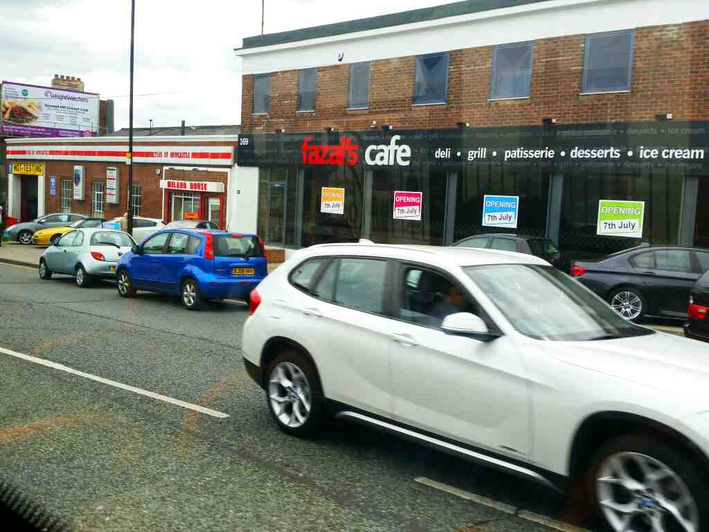 Passes Fazels Cafe West Rd Benwall Fenham Newcastle on a 685 Carlisle Newcastle bus