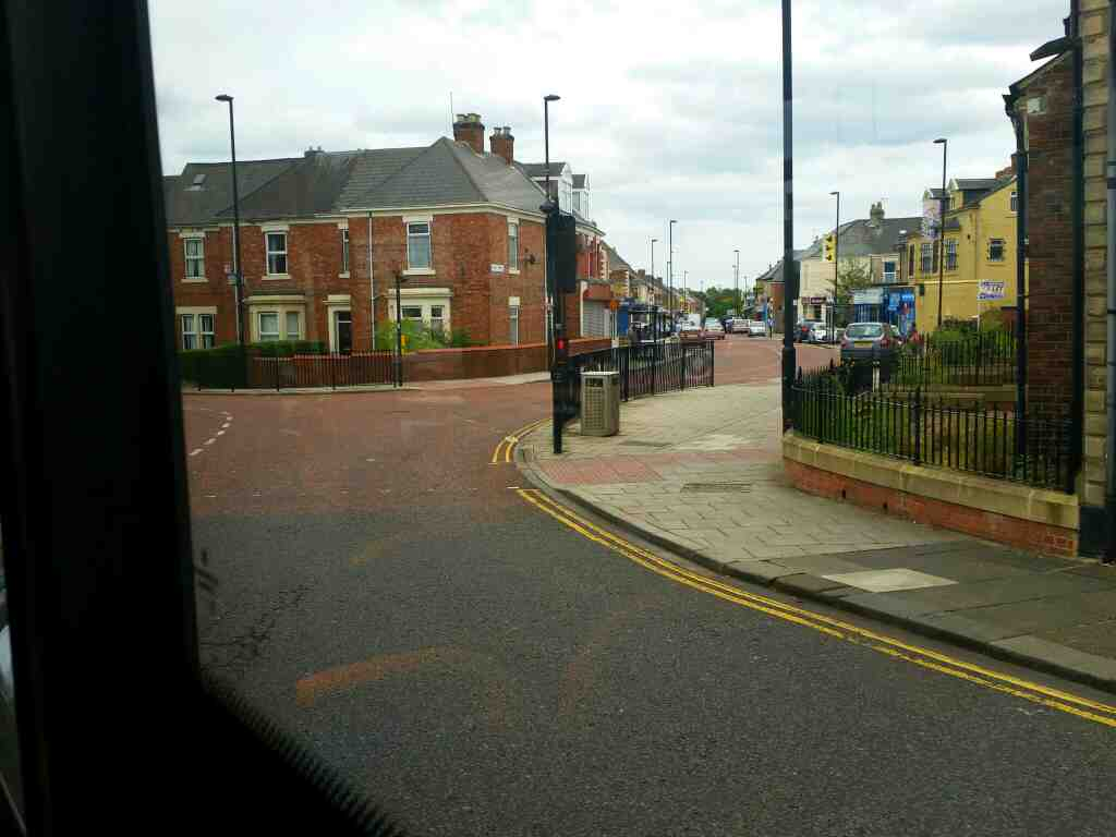 Junction of Brighton Grove and Crossley Terrace Arthurs Hill Newcastle on a 685 Carlisle Newcastle bus