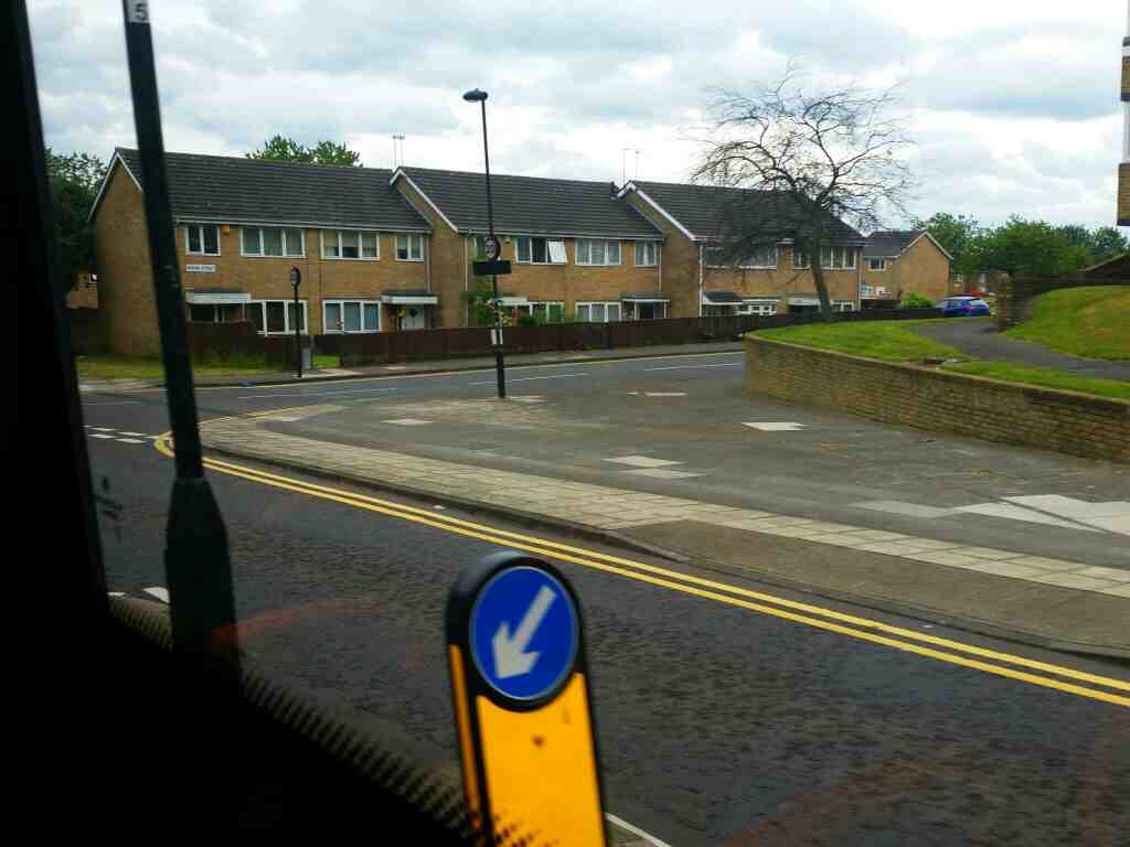 Junction of Stanhope St and Avison St Newcastle Upon Tyne on a 685 Carlisle Newcastle bus