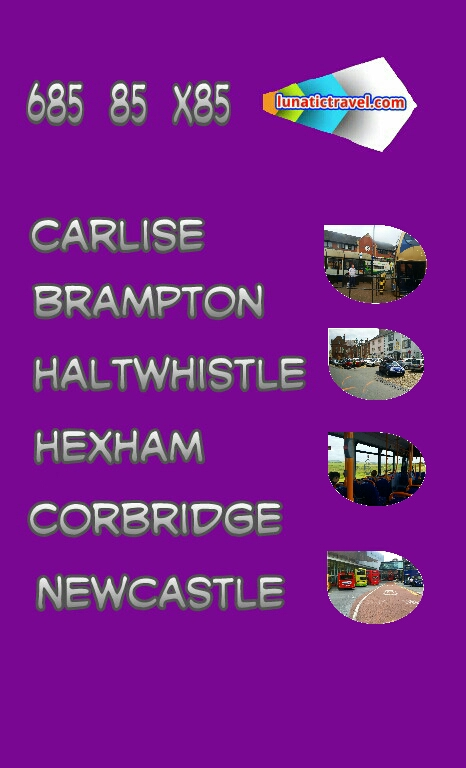 Bus timetable 685 85 x85 Carlisle Haltwhistle Bardon Mill Hexham Corbridge bus times