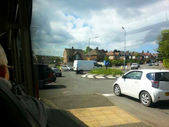 Roundabout junction with Boythorpe Rd and St Augustinens Rd Chesterfield