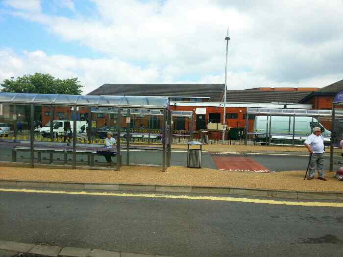 Alfreton bus station from Hall Street