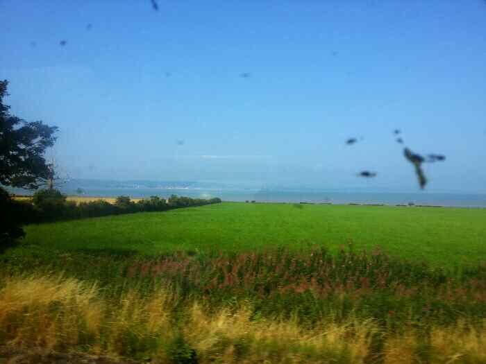 Anglesey as we head towards Bangor