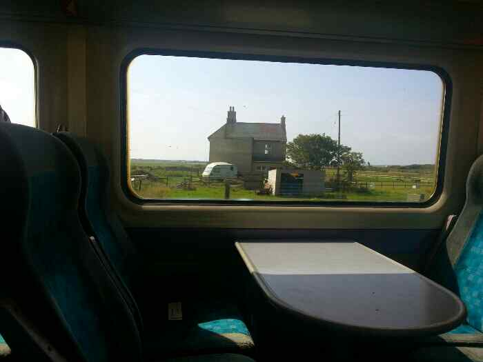 A house from a train Anglesey