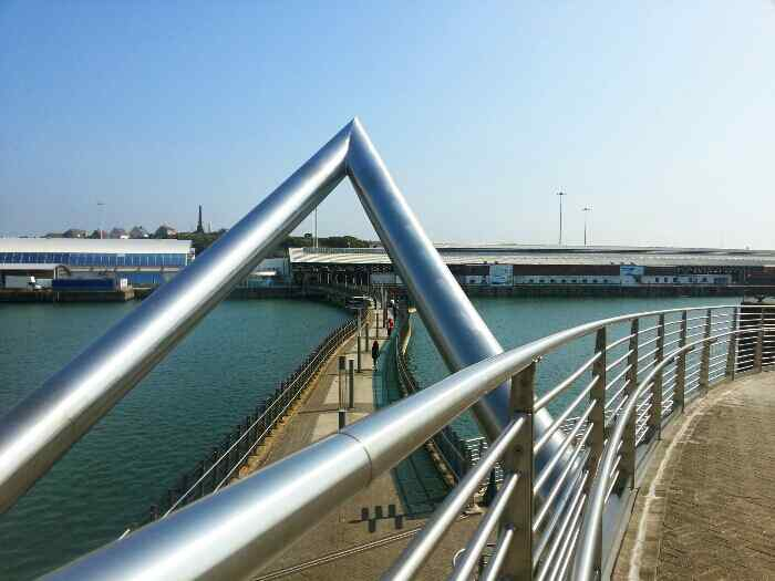 Celtic Gateway Footbridge from Holyhead town centre to Holyhead Ferry Terminal