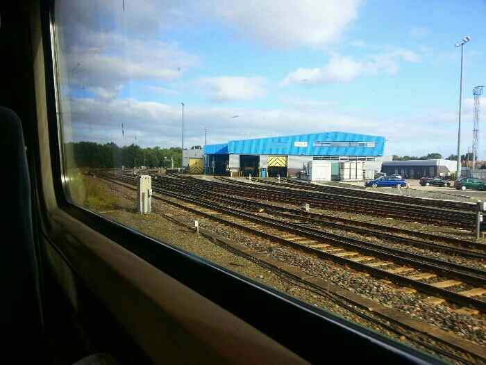 Passing the line to Liverpool and Chesters Railway Sheds