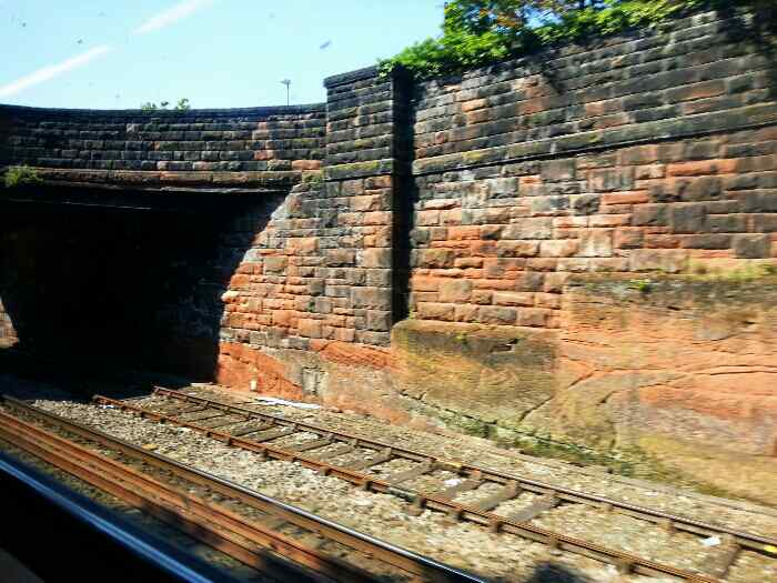 Leaving Chester on the railway for North Wales