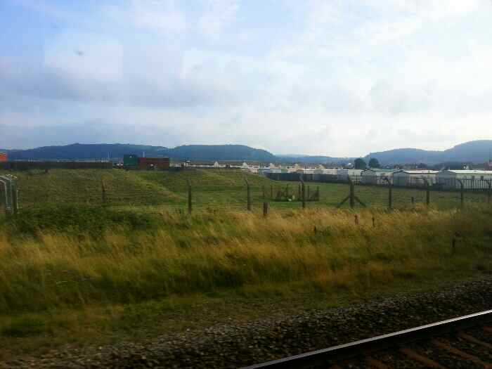 Approaching Abergele hills in the background