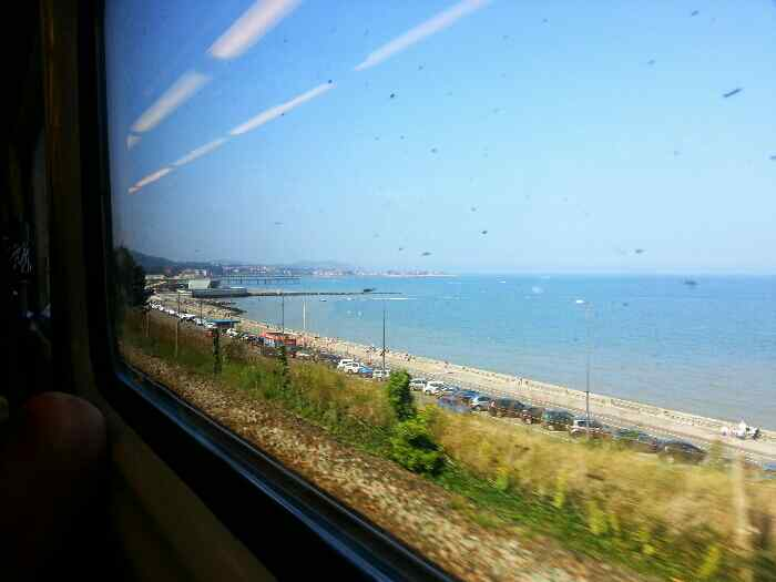 Colwyn Bay Sea front from the train