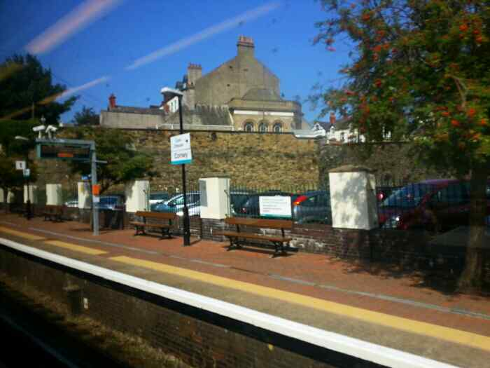 Passing through Conwy station