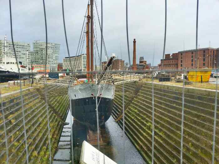 Tall ship in Dry Dock Liverpool