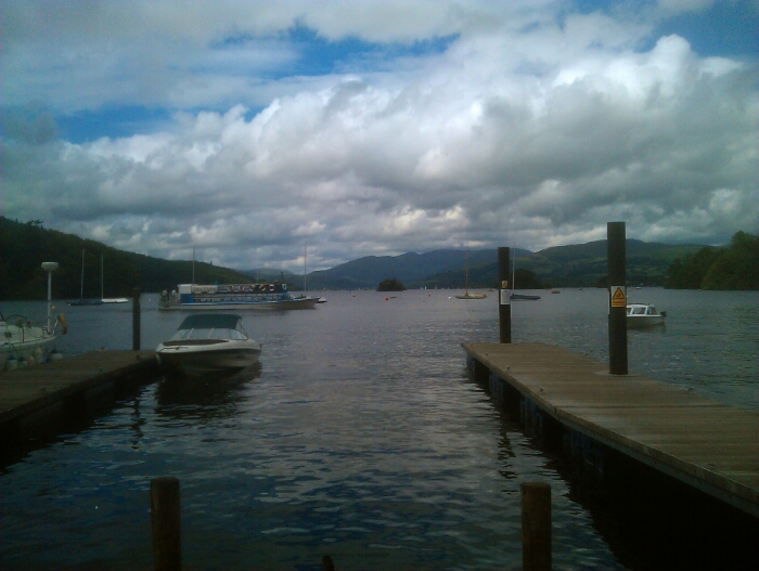 Looking up Lake Windermere towards Ambleside from Bowness.