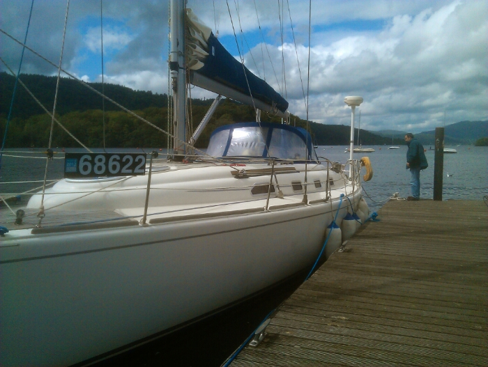 A yacht at Bowness.