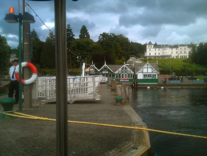 The Tern Docking at Bowness.