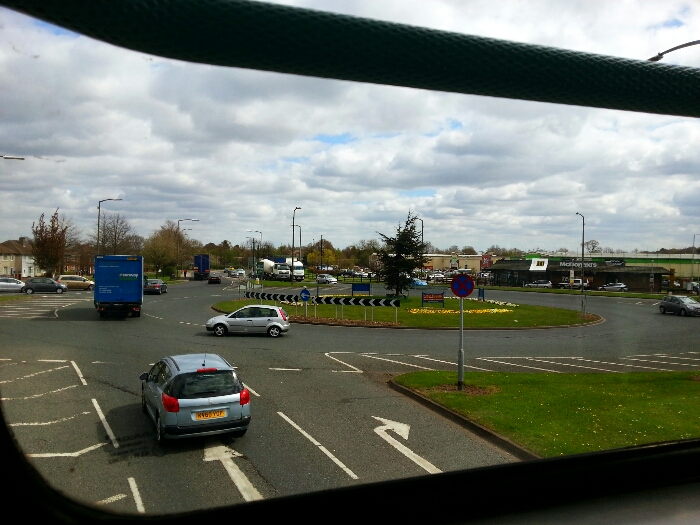 Sandall Park roundabout at the Legar Retail Centre