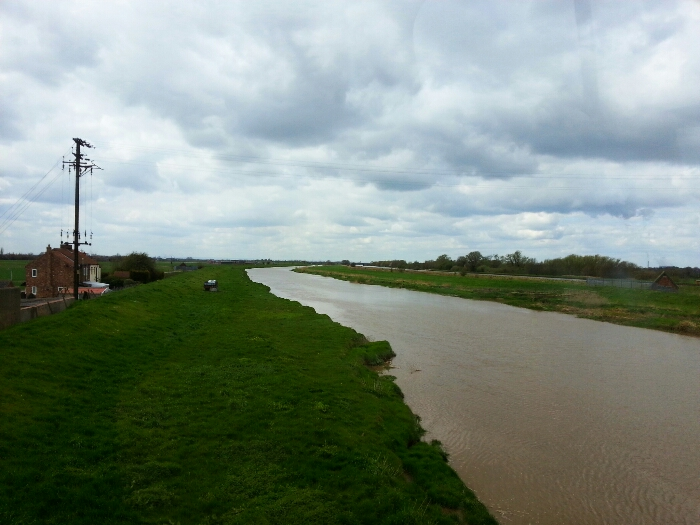 Tidal River Aire at Rawcliffe Bridge East Yorkshire