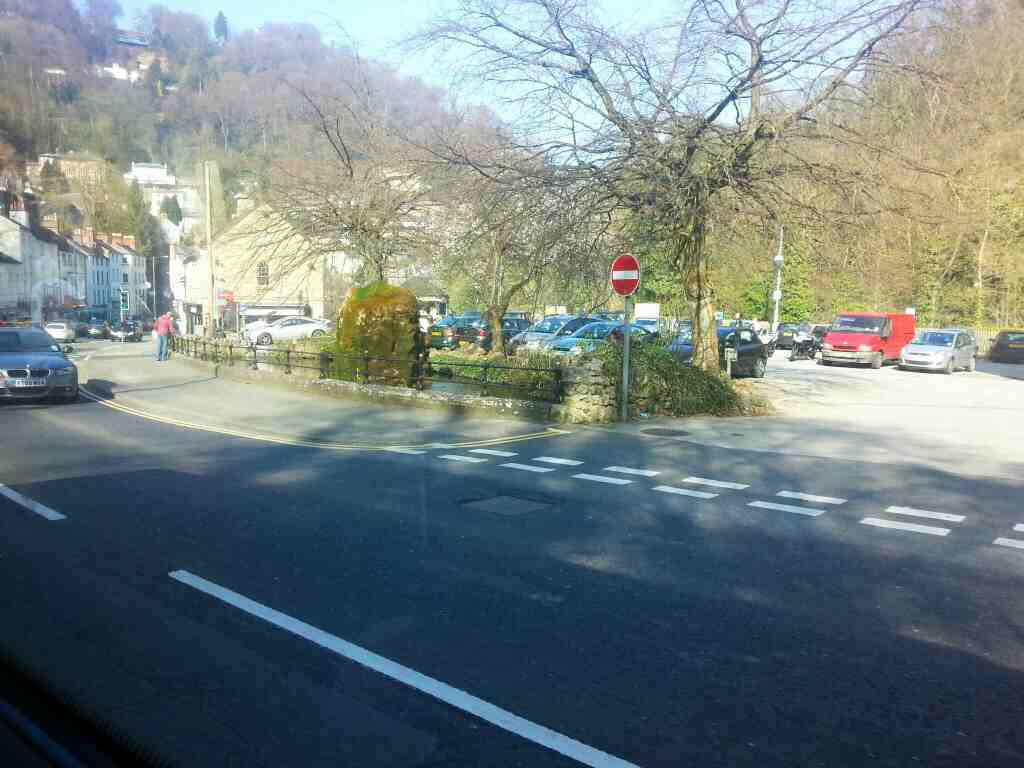 Passes Fishpond Matlock Bath A6 South Parade on a Transpeak bus