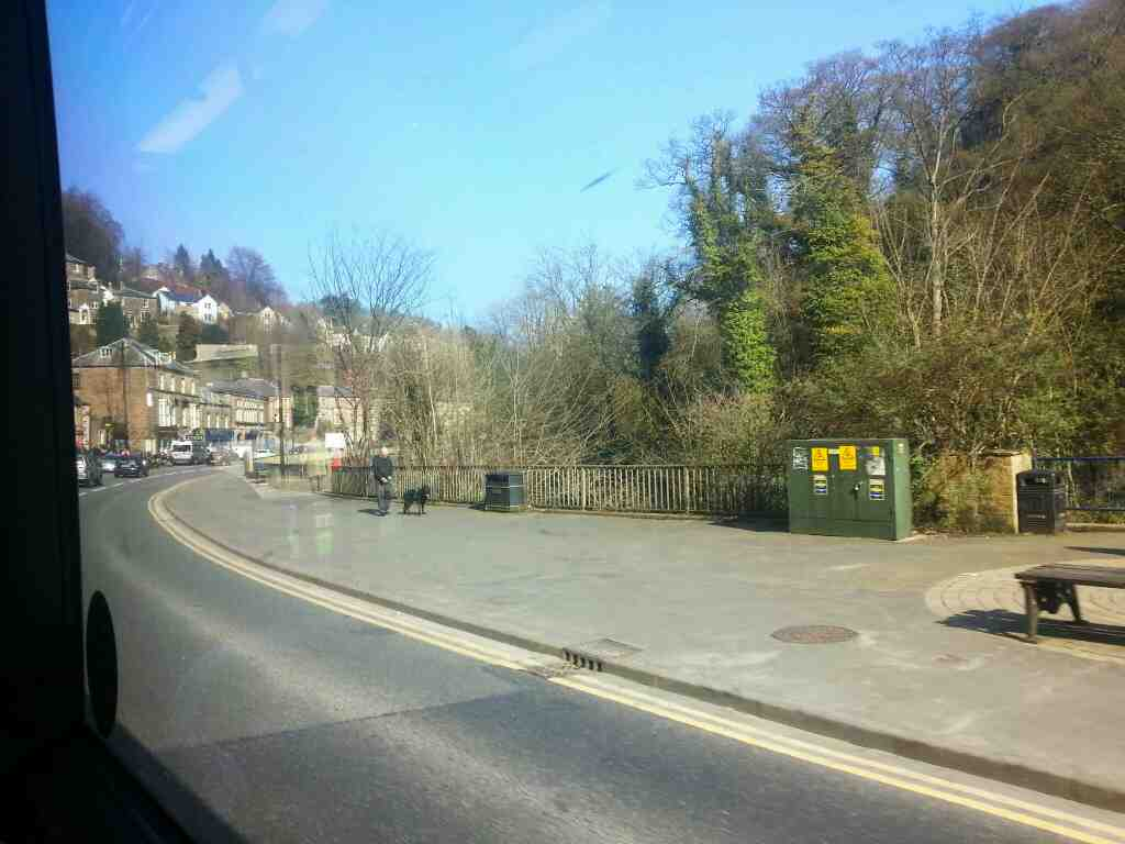 North Parade.the A6 Matlock Bath on a Transpeak Bus