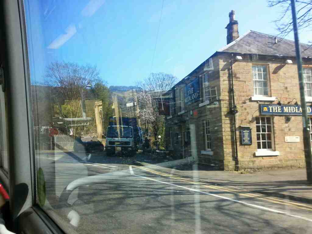 Passes The Midland Matlock Bath Dale Rd on a Transpeak bus