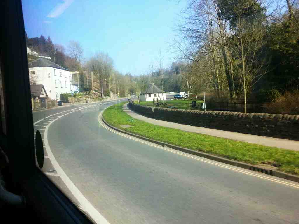 Dale Rd the A6 heading towards Matlock taken off a Manchester bound Transpeak bus