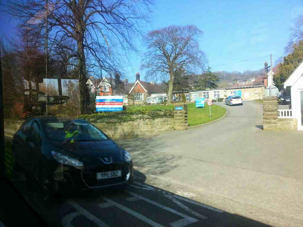 Passes the Whitworth Hospital Bakewell Road Matlock off a Transpeak bus